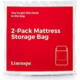 Linenspa 2 Pack Heavy Duty Mattress Storage Bags - Perfect for Moving, Storage and Disposal