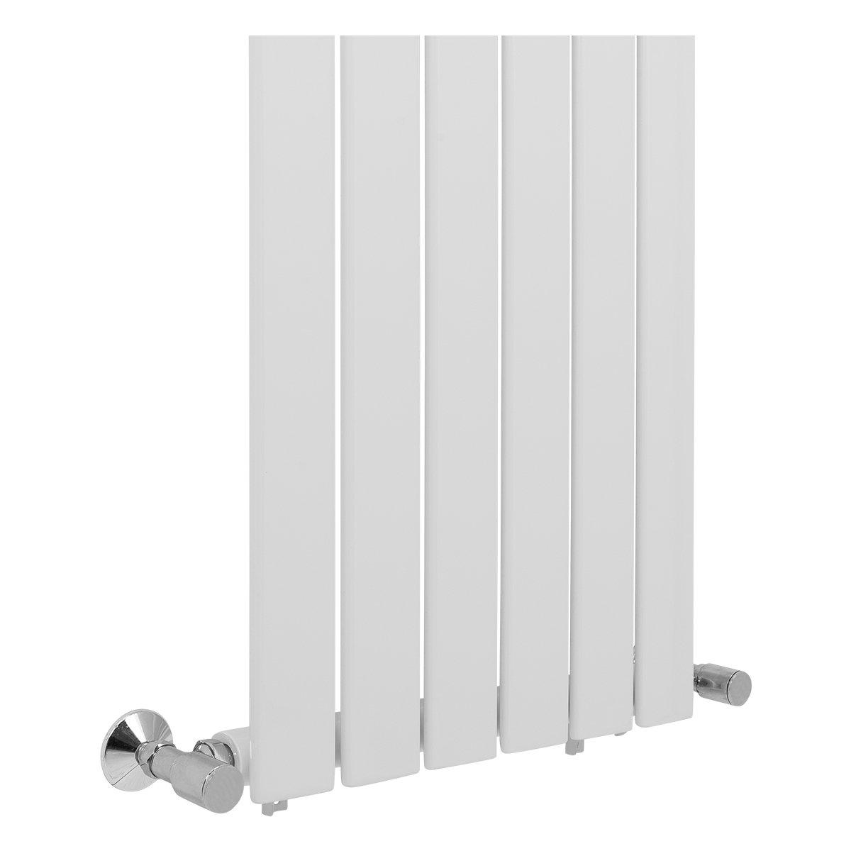 Radiateur eau chaude simple Karlstad 890W 1800 x 452 Blanc