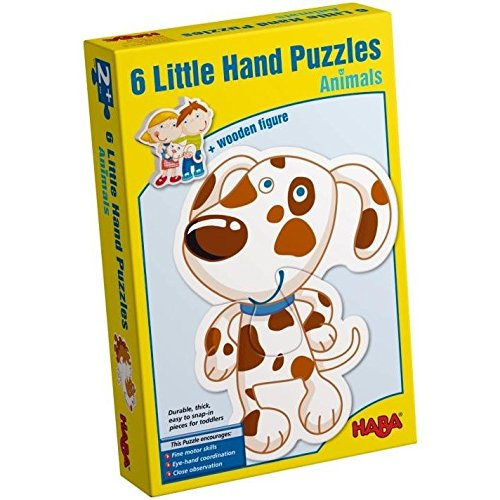 HABA Little Hand Puzzles Animals - 6 Puzzles for Ages 2+ (Made in Germany)