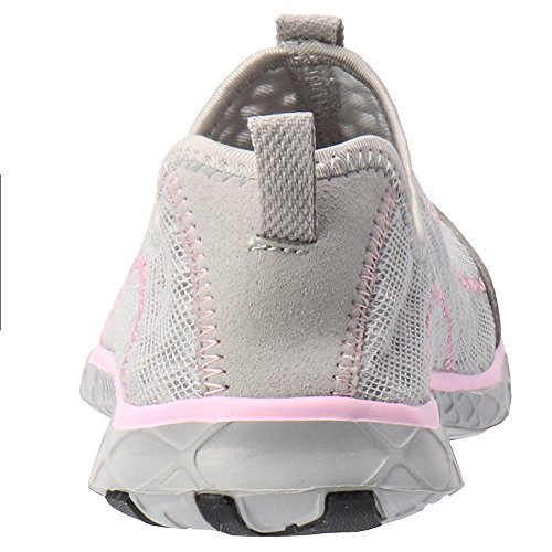 Women's ALEADER Lt Shoes on Gray Pink Mesh Slip Water RqHCqAwU