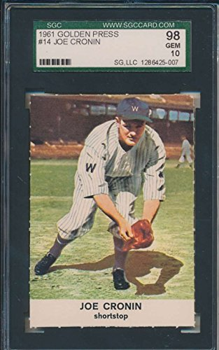 1961 Golden Press #14 Joe Cronin Washington Senators SGC ...
