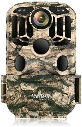 VANBAR Trail Camera WiFi 1296P 24MP, Hunting Camera with Night Vision Motion Activated IP66 Waterproof and 120°Wide-Angle for Hunting Games, Wildlife Monitoring and Home Security