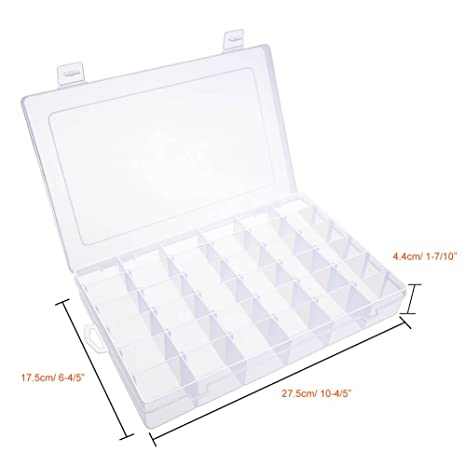 Amazon Com Paxcoo Clear Plastic Jewelry Box Organizers With