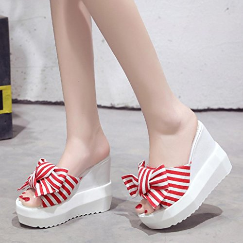 999f0d4c27a9 delicate DENER Women Ladies Girls Summer Platform Slippers Moccasins ...
