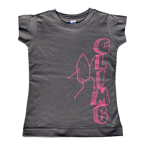 ZippyRooz Toddler & Kids Hiking Climbing Tee Shirt Rock Climb For Youth Girls (2T)
