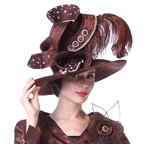 Kueeni Women Church Hats Couture Hats Mother of Bride Wedding Hats at  Amazon Women s Clothing store  2cc8ed11dd6