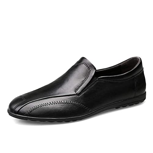 Classic Artesanal Cuero Mocasines Hombre Comodas Ponerse Oficina Trabajo Zapatos: Amazon.es: Zapatos y complementos