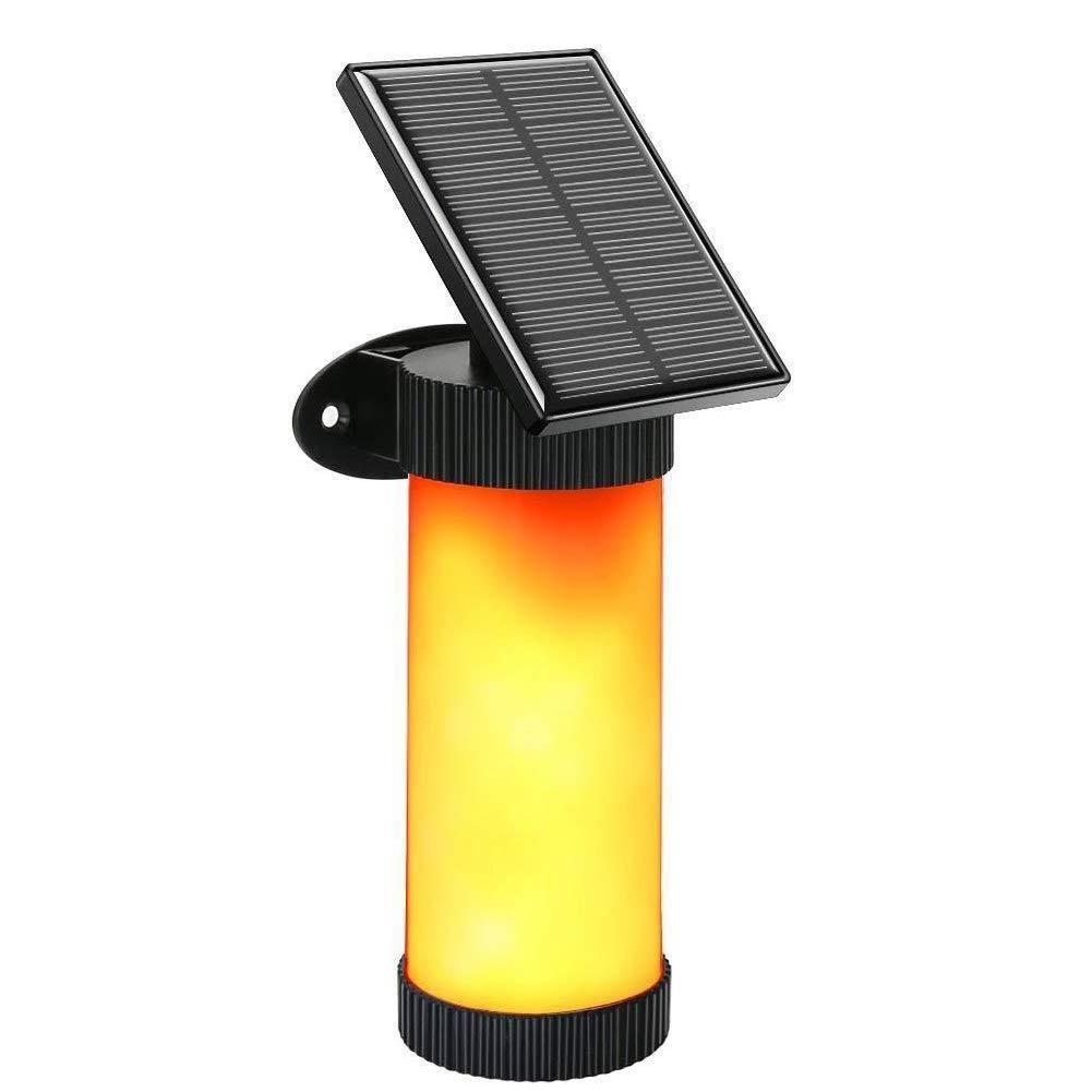Luci Solari di 102 LED Fiamme Lampada Wireless da Parete Bianco Caldo Solare Illuminazione con Energia Solare Impermeabile IP65 per Esterno, Parete, Giardino, Strada
