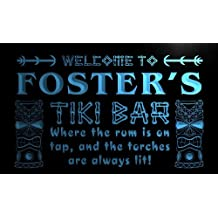pm883-b Foster's Tiki Bar Mask Beer Neon Light Sign