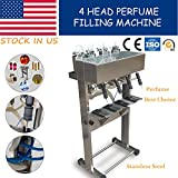 YT-4 head perfume filling machine,pneumatic vacuum liquid filler USA Stock