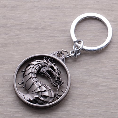 Mortal Kombat Vintage Charms Dragon Amulet Key Chain Key Rings Pendant (#2)]()