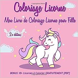 Coloriage Licorne Mon Livre De Coloriage Licorne Pour Fille