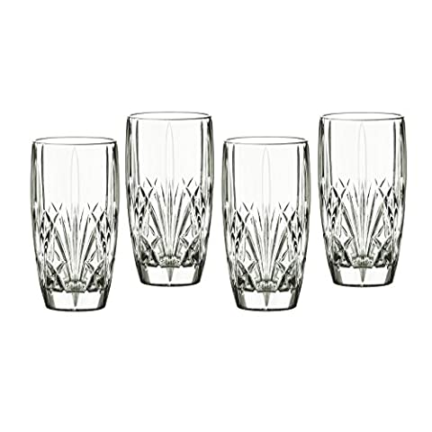 Marquis by Waterford Brookside HiBall, Set of Four, Clear