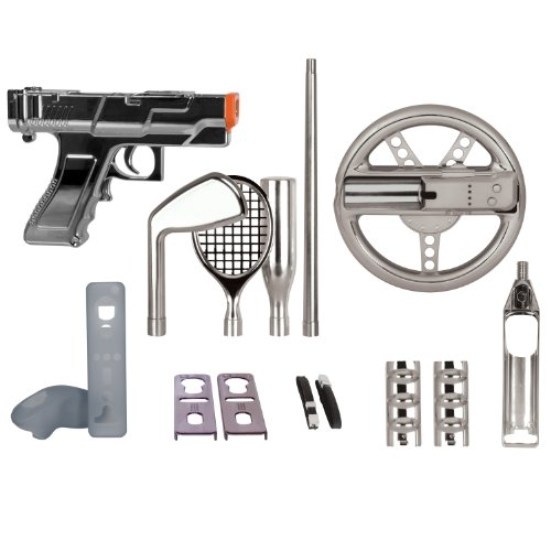 dreamGEAR Nintendo Wii 15-in-1 Player's Kit Plus (silver) (Dreamgear Wii Game Blaster)