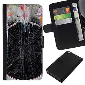 All Phone Most Case / Oferta Especial Cáscara Funda de cuero Monedero Cubierta de proteccion Caso / Wallet Case for HTC DESIRE 816 // Art Painting Lines Stripes