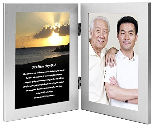 My Hero, My Dad - Birthday or Christmas Gift for Father from Son or Daughter, Add Photo