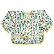 Bumkins Baby Toddler Bib, Waterproof Sleeved Bib, Cacti (6-24 Months)