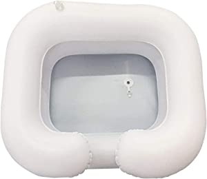 PVC Hair Washing Basin,Inflatable Shampoo Basin Kit for Disabled and Elderly Bed Easy & Safe Bathing & Shampooing