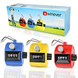 EWIN(R) 3pcs ABS Hand held Tally Counter 4 Digit Counter Buddha Numbers Clicker Golf