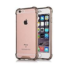 iPhone 6S Plus Case iPhone 6 Plus Case CaseHigh Shop Flip Cases Protective Shell TPU Trim Bumper Clear Flexible Soft TPU Cover Anti-Scratch Fingerprint for iPhone 6 Plus (2014) / 6s Plus (2015)-Black