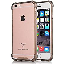 iPhone 6S Case Clear TPU CaseHQ Shop Shock-Proof Scratch-Resistant TPU Silicone Gel Back Cover Skin Soft Cases Shock Absorbing Technology Case for Apple iPhone 6 (2014) and iPhone 6S (2015) ¨C Black