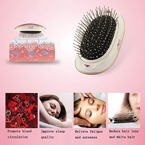 Cepillo de pelo eléctrico iónico portátil para el pelo pequeño, cepillo mágico de belleza, masaje para el hogar o viajes: Amazon.es: Belleza