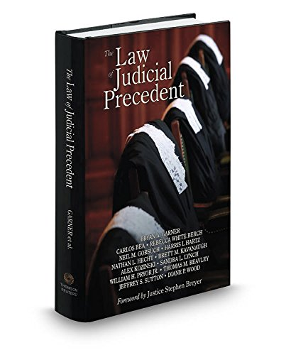 Law of Judicial Precedent by Thomson West