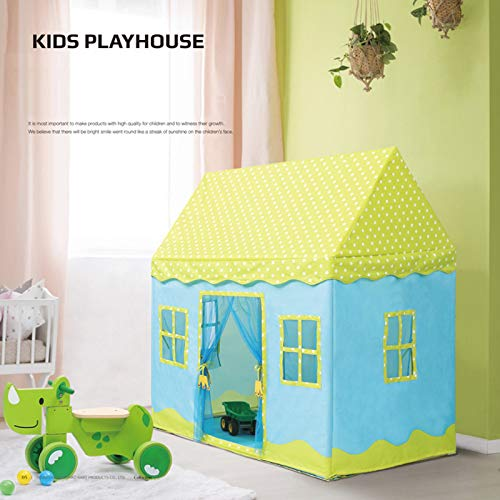 Revanak Kids Play Tent for Girls and Boys | Indoor and Outdoor Use Pop-Up Playhouse | Pretend Toy Play Tent Amazing Gift for Children (Green Home)