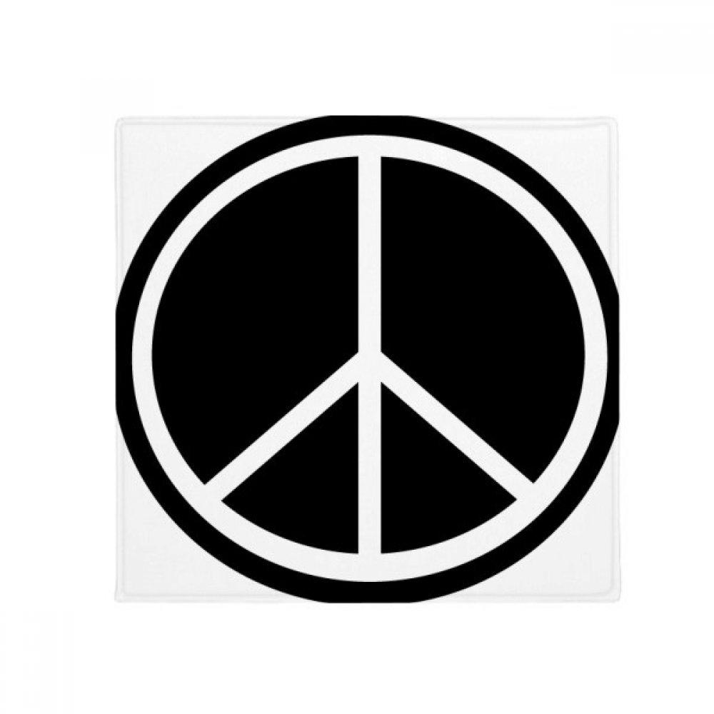 DIYthinker Peace Symbol Nuclear Anti-War Pattern Anti-Slip Floor Pet Mat Square Home Kitchen Door 80Cm Gift