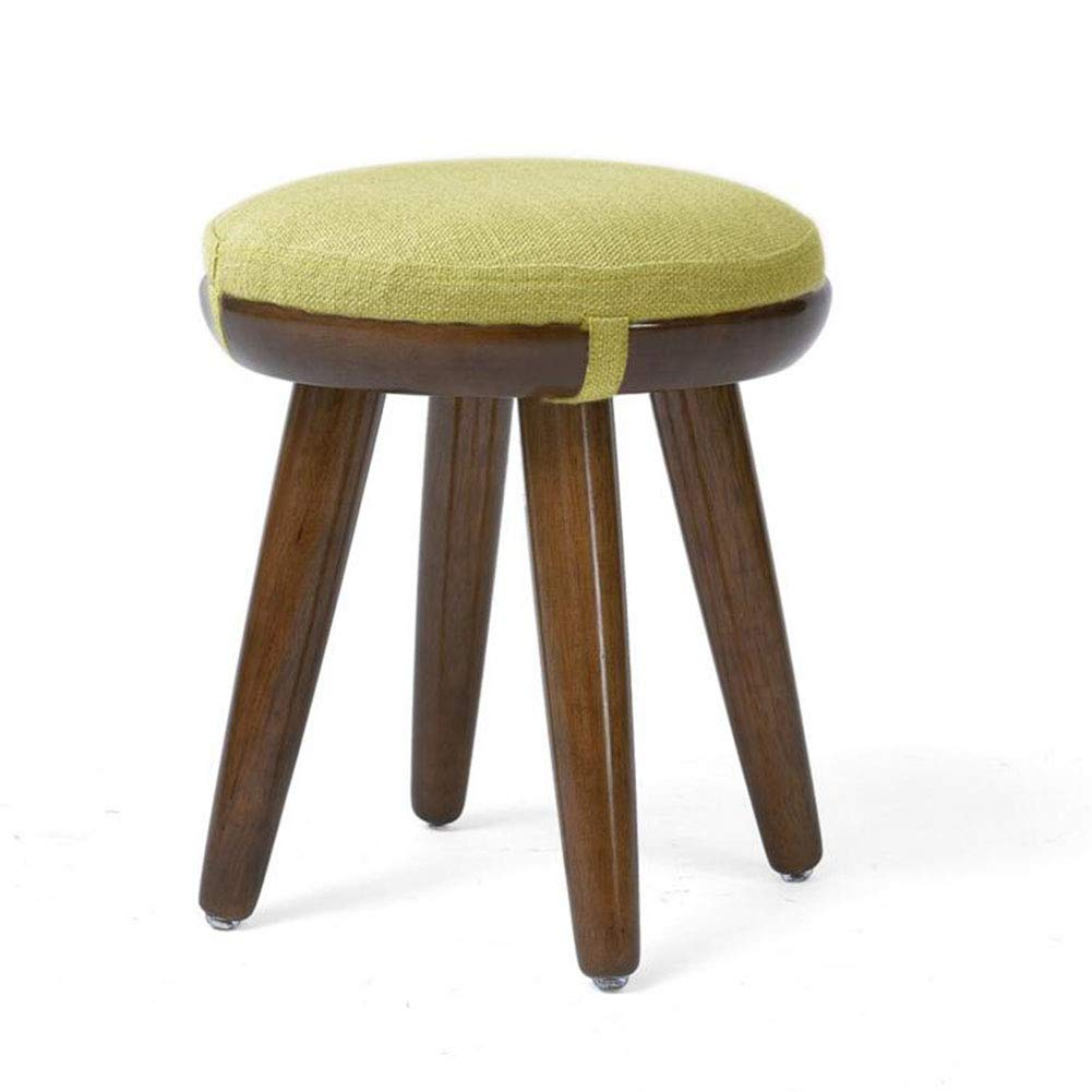 T4 XUERUI Furniture Stools Footstool Upholstered Chair Pine Wood Seat Modern Living Room Dining Fashion Make Up Bench Household Strong Stability (color   T1)