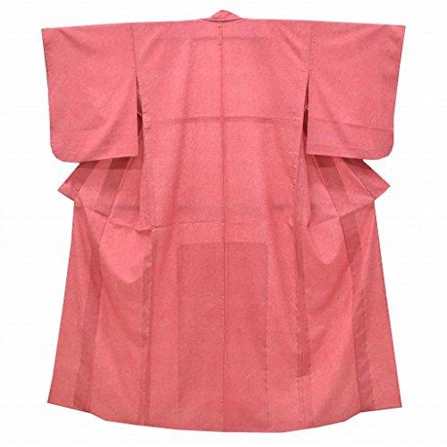 江戸小紋 中古 リサイクル 化繊 鮫小紋 えどこもん 単衣 美品 裄64cm ピンク系 裄Mサイズ 身丈Sサイズ jj0601b