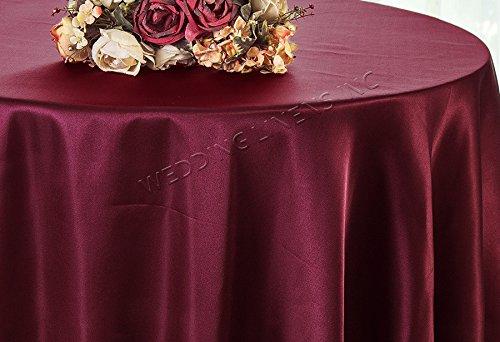 Satin Burgundy Overlay (Wedding Linens Inc. 90