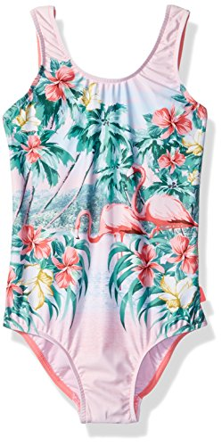 Back Tank Swimsuit - Seafolly Little Girls' Tie Back Tank Swimsuit, Rose Pink, 5