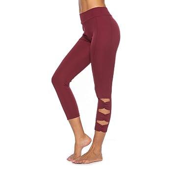 Amazon.com: Honhui - Pantalones de yoga para mujer, color ...