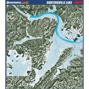 Alabama Paper Chart (Navionics Paper Map: Gentersville Lake - South Alabama)