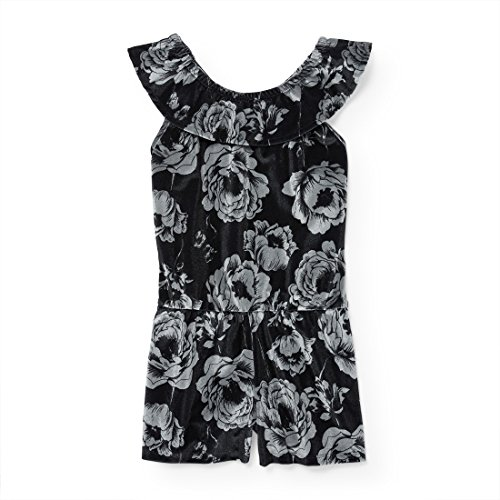Price comparison product image The Children's Place Big Girls' Short Sleeve Casual Dresses,  Black 90625,  XXL(16)