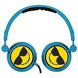 Alta Cool Emoji - Swivel Adjustable Headband Stereo On-Ear Headphones W/In-Line Mic