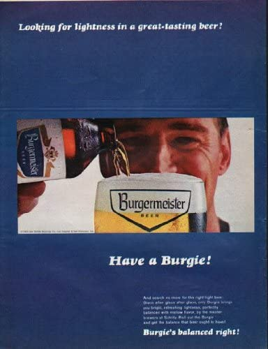 1965 Burgermeister Beer Ad Have A Burgie Amazon Co Uk Kitchen Home