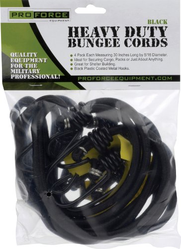 (Pro Force Camcon Heavy Duty Bungee Cords (4 Pack), Black )