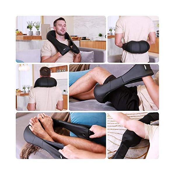 Naipo Massaggiatore per Collo e Spalle Shiatsu Elettrico Massaggi per Cervicale, Schiena con Profondo Massaggio… 4 spesavip