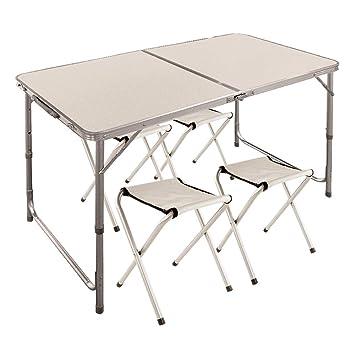 Aktive 52815 Mesa Plegable con sillas Sport, 120 x 60 x 70 ...