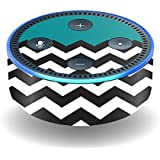 MightySkins Skin For Amazon Echo Dot (2nd Gen) - Teal Chevron | Protective, Durable, and Unique Vinyl Decal wrap cover | Easy To Apply, Remove, and Change Styles | Made in the USA