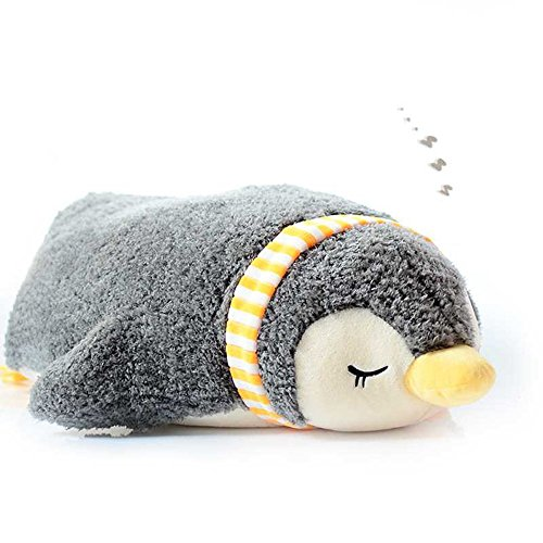 Levenkeness Penguin Hugging Pillow, Soft Scarf Sleeping Penguin Stuffed Animals Plush Toy Gifts 21.6
