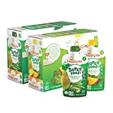 Happy Tot Organic Stage 4 Super Foods, 2 Flavor Variety Pack, Spinach Mango Pear & Green Bean Pear Pea, 4.22 Ounce (Pack of 16)
