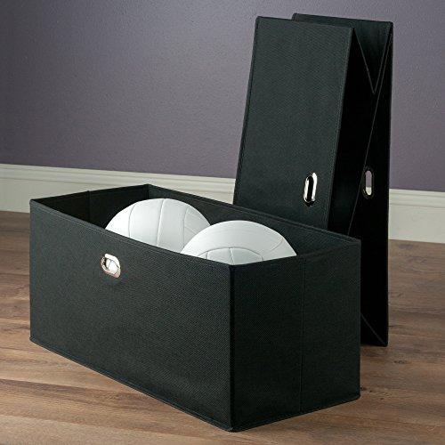 Winsome Wood Torino 2-PC Set Folding Fabric Baskets black by Winsome Wood (Image #3)