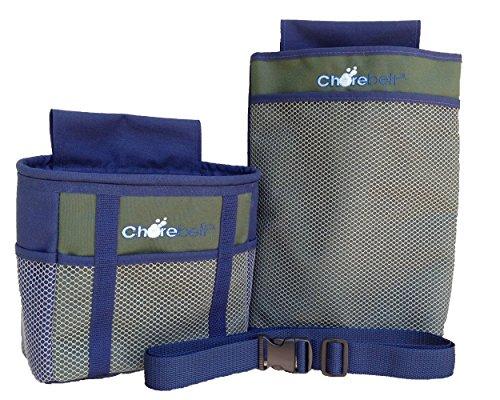 Chorebelt Cleaning, Gardening, Utility Supplies Caddie 3-Piece Set. Olive.