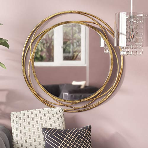 SPAZIO Swirl Wall Mirror, One Size, Antique - Mirrors Bathroom Modern Midcentury