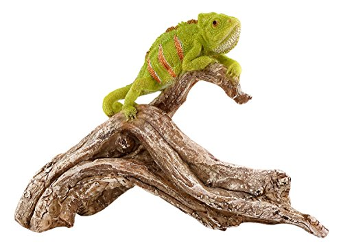 Top Collection Miniature Fairy Garden and Terrarium Chameleon on Tree Branch Statue For Sale
