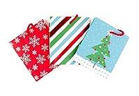 Hallmark Holiday Gift Card Holders (Tree, Snowflake, Stripes, 3 Pack)