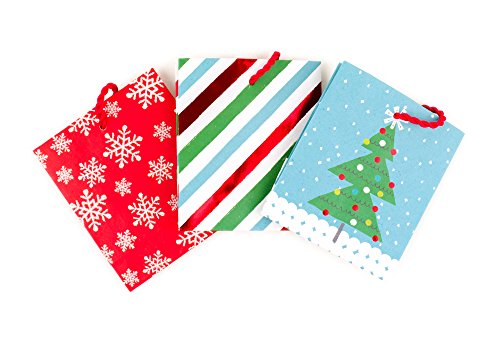 Hallmark Holiday Gift Card Holders, Tree, Snowflake, Stripes (Pack of 3)